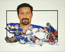 Grant Fuhr Edmonton Limited Edition Signed Lithograph