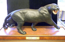 Franklin Mint Silent Rage Panther Figure With Base - Limited Edition
