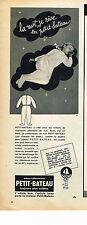 PUBLICITE ADVERTISING  1956   PETIT-BATEAU  sous vetements pyjamas