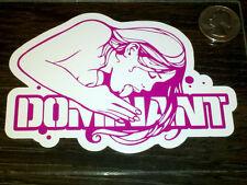 Three BURTON DOMINANT Snowboard Stickers Vinyl Car Window Decals Hot Fuchsia 3pc
