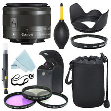 Canon EF-M 15-45mm f/3.5-6.3 IS STM Lens Graphite + Filter Kit + Accessory