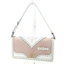 Dior Handbag Trotter Pink White Woman Authentic Used T2910