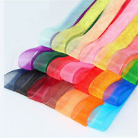 10Y Lace Trim Ribbon Organza Chiffon Sheer Woven Wedding Applique Sewing Craft