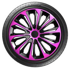 "4 x 14"" Wheel Covers Hub Caps 14 Inch Wheel Trims Trim ABS Plastic Trim StrPINK"