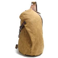 Men's Sling Backpack Waxed Canvas Crossbody Bag Casual Daypacks Hot