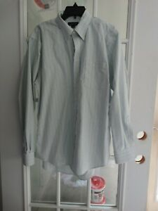 Men's Dress Shirt Long Sleeve by Land's End  Size 16 1/2 - 35  pre-owned
