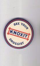 Vintage Knoxit DRUGGIST pocket mirror PHARMACY Pharmacist DRUGSTORE Drug Store