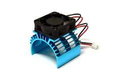 RC Model 5V 0.20A Cooling Fan & 36x33mm R/C Motor Blue Aluminum Heat Sink AC221