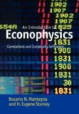 Introduction to Econophysics: Correlations and Complexity in Finance: By Mant...