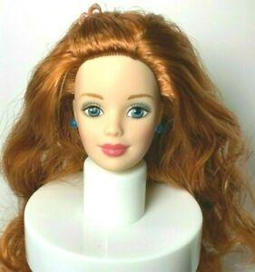 HEAD : MACKIE : BARBIE DOLL : VIBRANT GINGER TITIAN RED HAIR : OOAK : UNBOXED