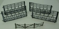 Gray Plastic Barbed Wire Panels – Lot of 5