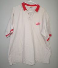 DETROIT RED WINGS hockey lrg polo shirt NHL embroidery logo True Fan 1990s sewn