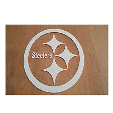 Pittsburgh Steelers 5 x 5 White Car Decal Sticker