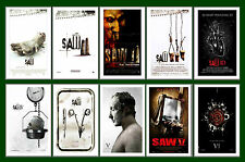 SAW FILMS  - FILM  POSTER POSTCARD SET # 1