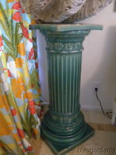 1920's Gladding McBean Pottery Tile Column ~ Tall Pedestal ~ Turquoise