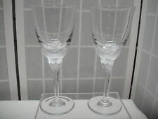 Hanae Mori Crystal Butterfly, Wine Stems, Glasses, Franklin Mint, 2 pcs.