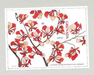 Grenada #1659 Flowers 1v S/S Imperf Proof