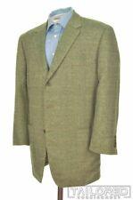 TURNBULL & ASSER Green Herringbone Check Silk Wool TWEED Blazer Sport Coat 44 R