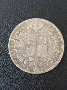 1891 Victoria silver half crown