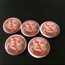 "ANTI TRUMP WORST PRESIDENT EVER 1"" Campaign Pin Button Pinback Badge Lot #P010B"