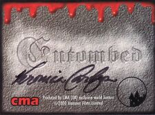 Hammer Horror Entombed Veronica Carlson Auto Card