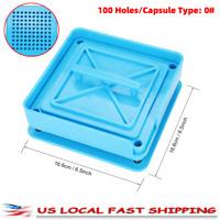 100 Holes Capsule Filler Manual Filling Machine 0# for Coffee Powder Capsules