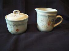 International China Marmalade Goose Pattern Stoneware Creamer and Sugar Bowl