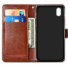 Wallet Cell Phone Case Flip Leather Document Pouch Soft Mobile Cover Accessories