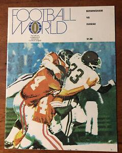 RARE 1974 WFL Playoff Program Birmingham Americans vs The Hawaiians