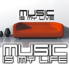 Wandtattoo Musik Music is my live  Wandsticker | Tattoos für die Wand | XXL