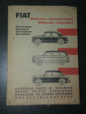 FIAT 1100  MILLE CENT CATALOGUE DE PIECES DETACHEES