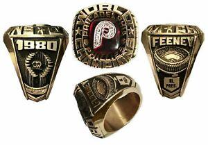 1980 World Series Sports Philadelphia Phillies Men's Ring In 935 Argentiu Silver