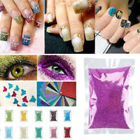 50~100g Nail Art Acrylic Metal Glitter Powder Dust Craft Decorating 20Colors DIY