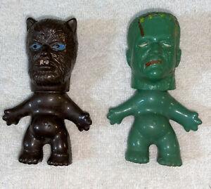 Monster Nik Vintage Figure Troll King Kong Wolfman & Frankenstein
