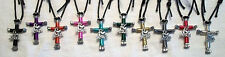 I Love Jesus Horseshoe Nail Cross Necklace or Keyring, You choose Colors!
