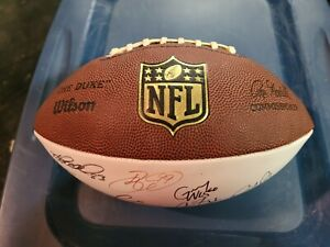 Multi autographed/signed Pittsburgh Steelers football Ben/Keisel/Miller/Faneca/