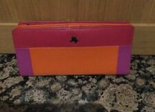 STYLISH VISCONTI MULTI COLOUR LEATHER FULL OPENING PURSE NEW WITH SLIGHT DEFECT