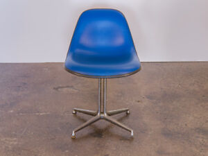 Blue La Fonda Padded Eames Chair for Herman Miller