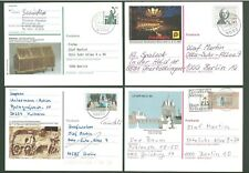 Stationery An53 4 Postal cards Sc Germany 80-90s yrs Slogan cancel Below face