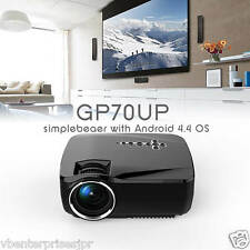 100% Original GP70UP Smart Mini Led Android Projector 1200 Lumi Wifi BT HDMI USB