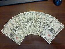 1963 Five Dollar RED Seal Note $5 - Problem Bills