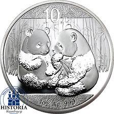 China Panda 2009 Silber Unze 10 Yuan Silbermünze in Münzkapsel