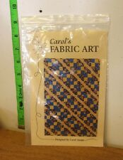 CAROL SWOPE Fabric Art craft kit Port Clinton sewing pattern Ohio cloth strip