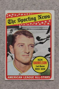 1969 Topps #417 KEN HARRELSON BOSTON RED SOX - Vintage Baseball Card