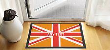 61x40.6cm Personalizado Naranja Union Jack Puerta De Entrada Estera