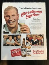 "VINTAGE 1950's BLATZ BEER MAGAZINE ADVERTISEMENT 10.5""X 13.5"""
