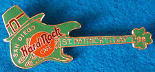SAN DIEGO ST PATRICK'S DAY SHAMROCK FENDER STRAT GUITAR 1999 Hard Rock Cafe PIN