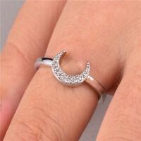 Elegant 925 Silver Jewelry Women's Wedding Rings White Sapphire Size6-10