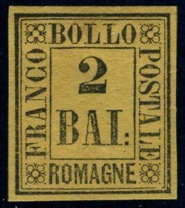 Italy Romagna 1859 2 bajocchi MH Sas 3 CV $156.00 190804005
