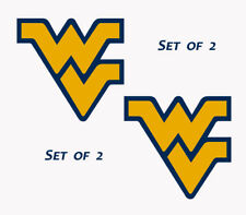 UNIVERSITY OF West Virginia Large 12 inch Wall-Cornhole Decals Set of 2 WVU